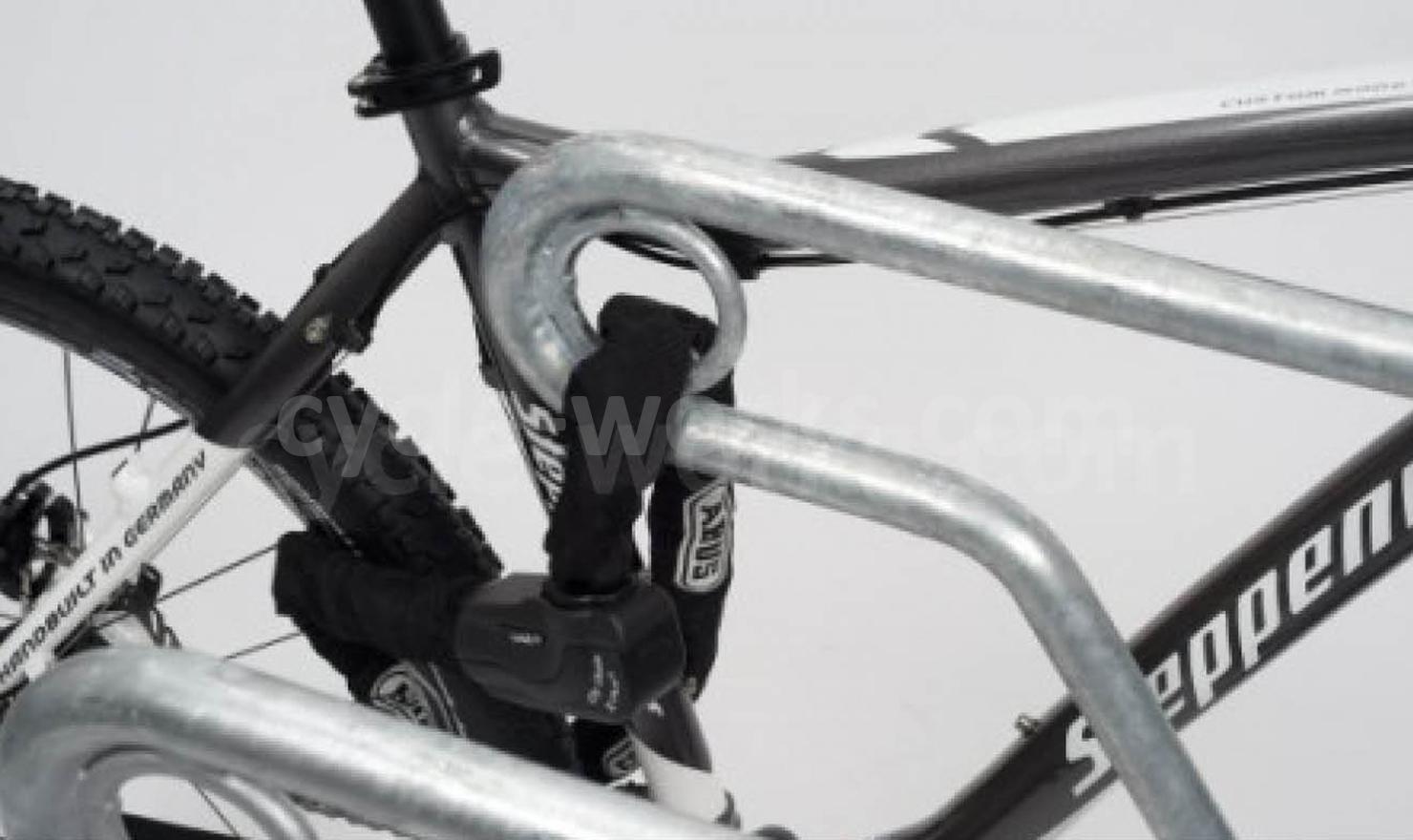 Bike Locked to Kent Cycle Rack