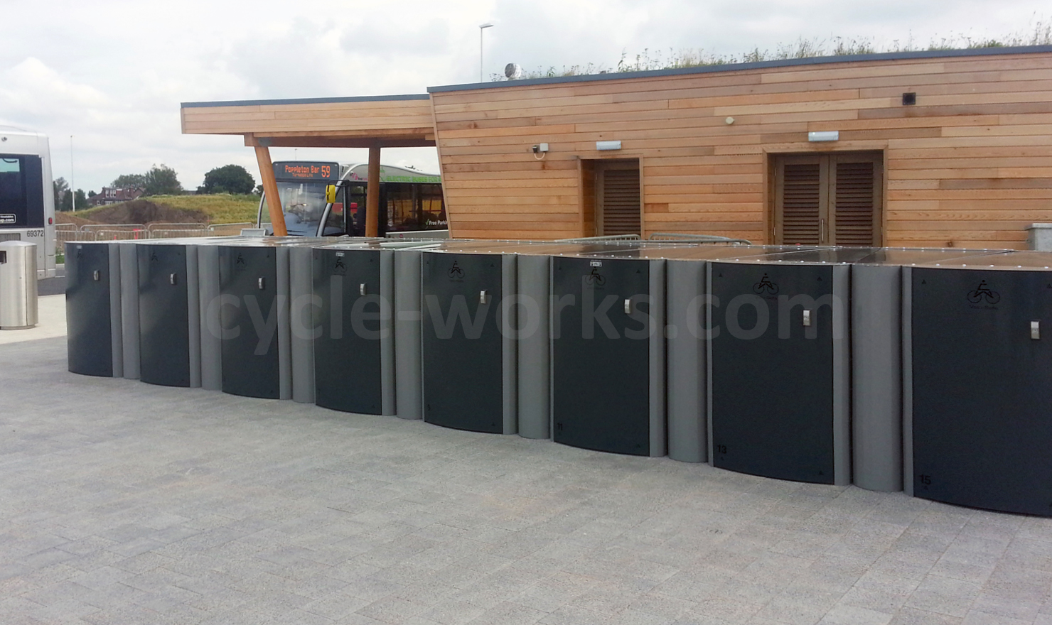 York Askham Bar Park and Ride Bike Lockers