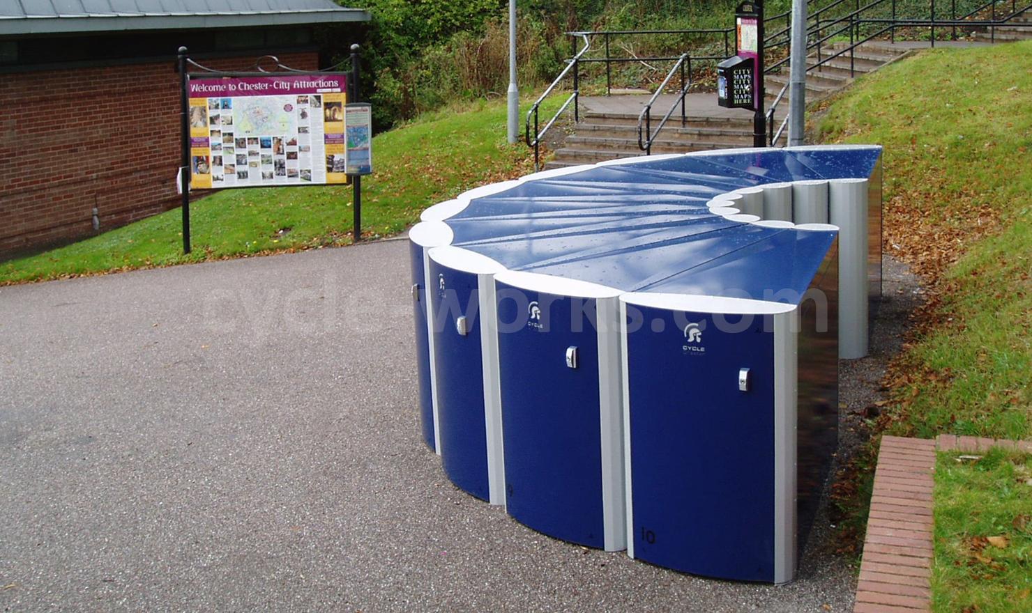 Chester Park and Ride Bike Locker