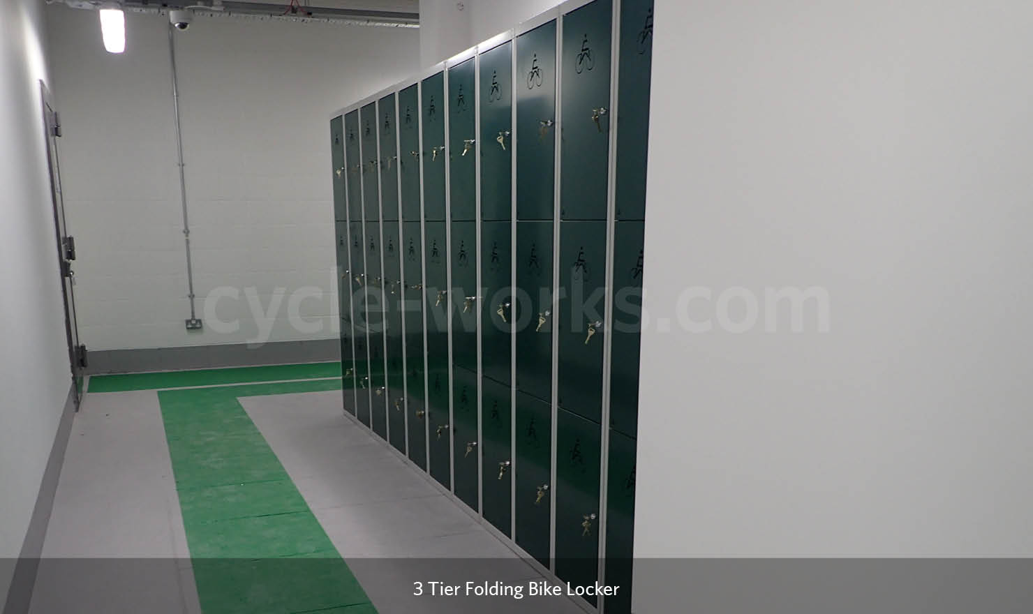 Three Tier Folding Bike Lockers