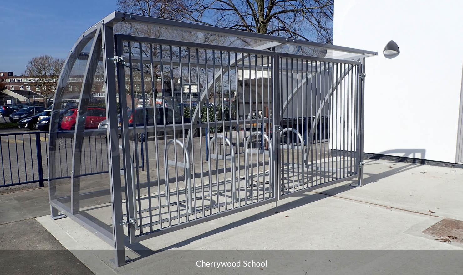 Solent Bike Shelter at Cherrywood Primary School