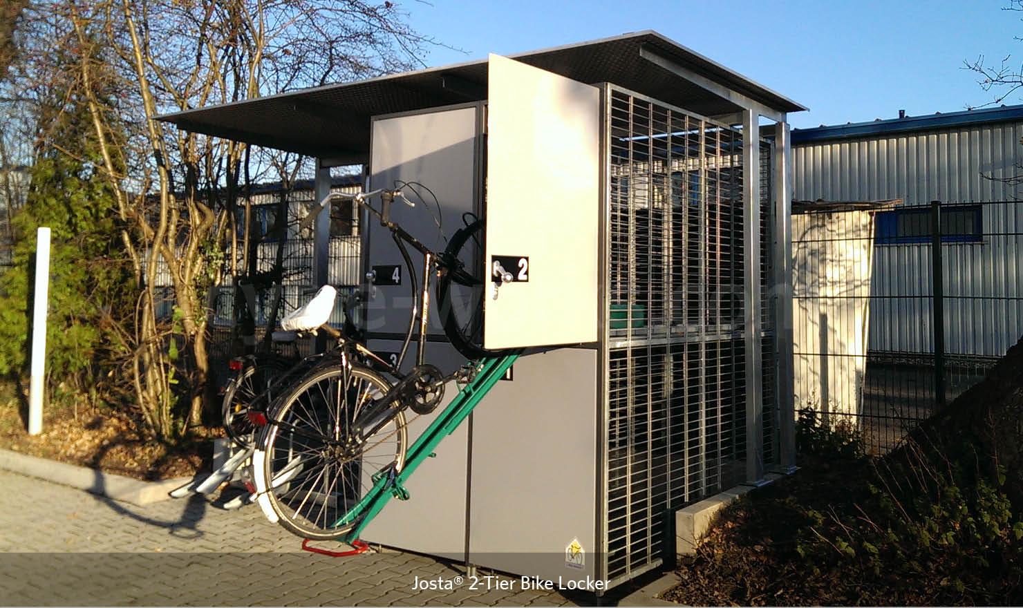 Josta Bike Store 2 - 2-tier bike lockers