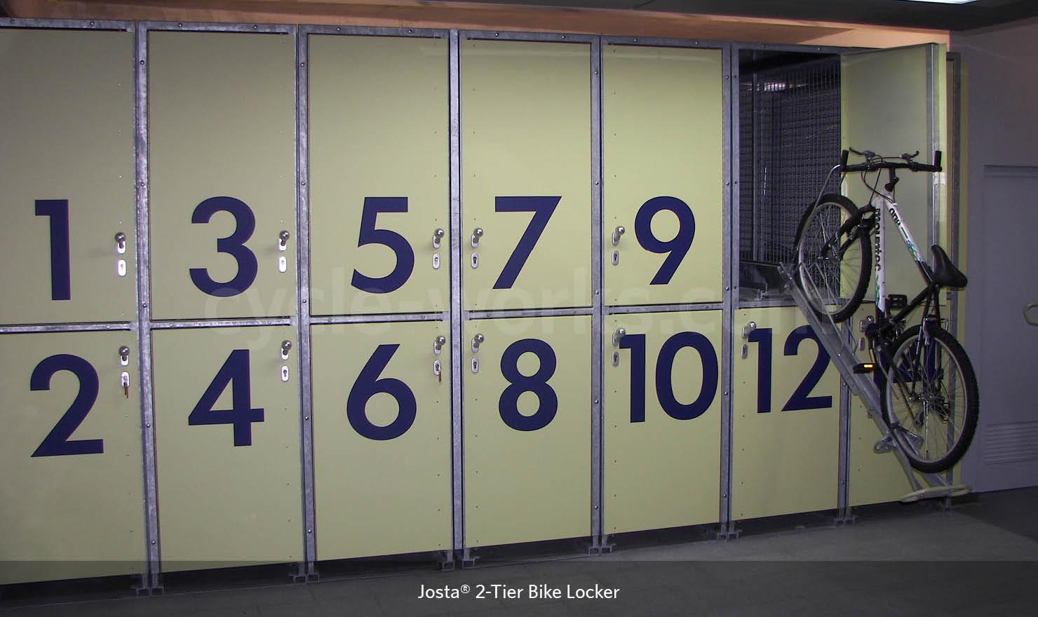 Josta 2 Tier bike lockers