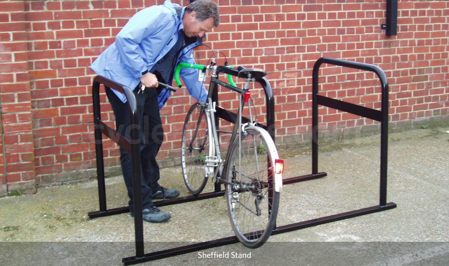 Bike Stand with Security Bar