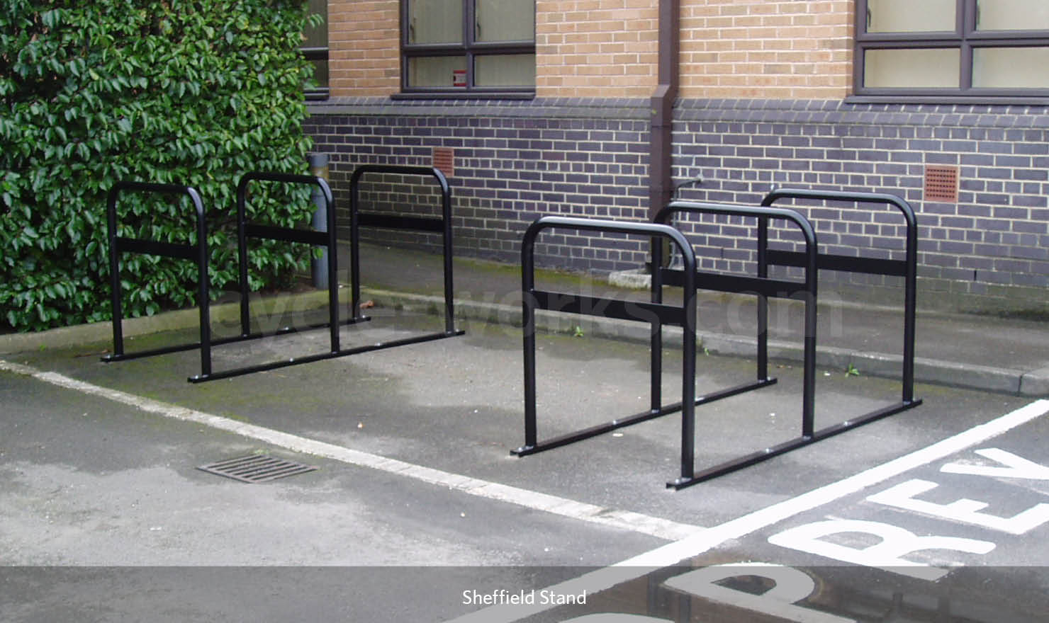 Bike Stand with Horizontal Security Bar