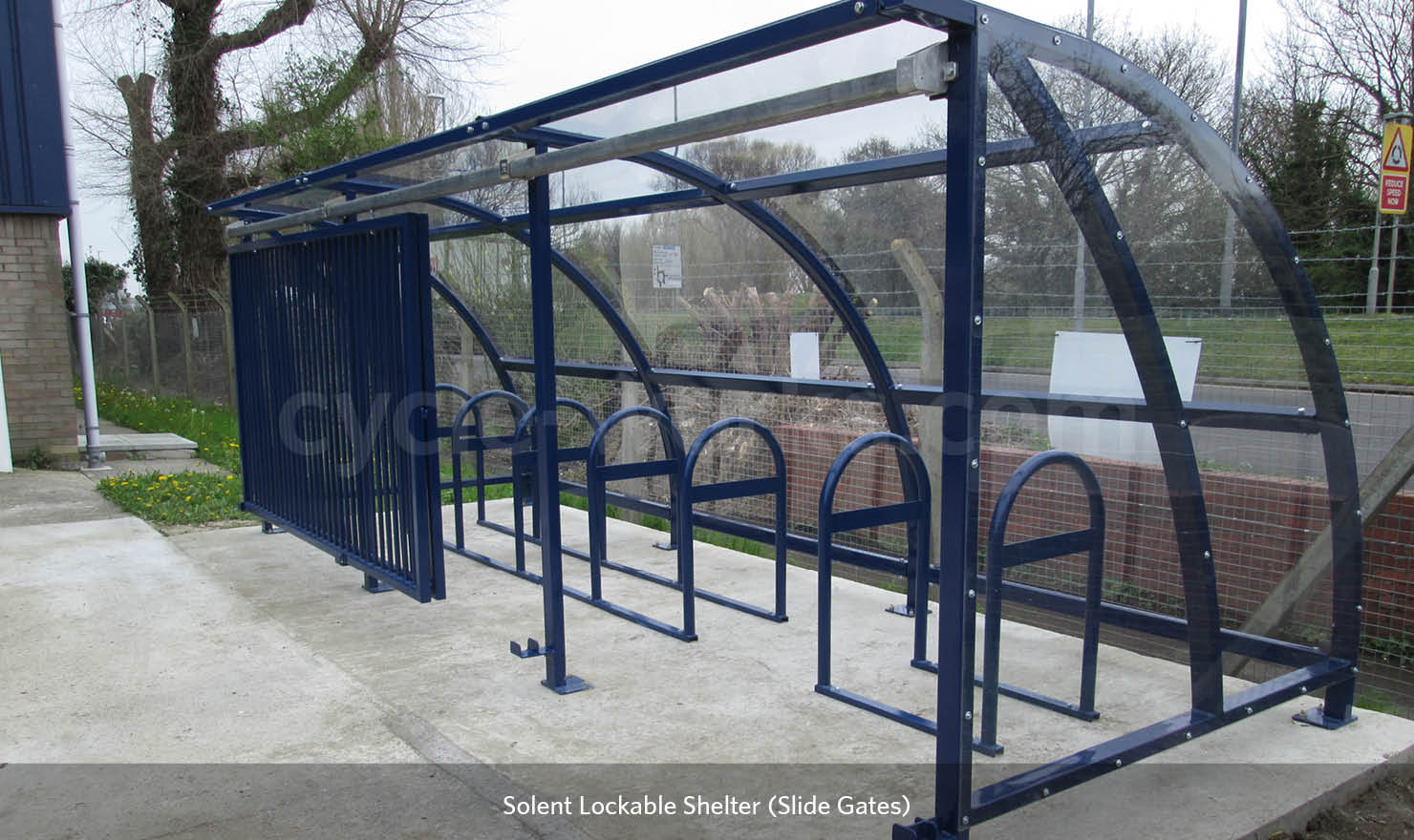 External Bike Shelter with lockable gates