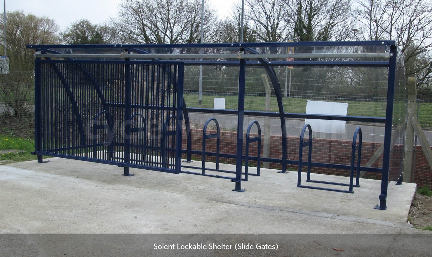 Outside Cycle Shelter with lockable gates