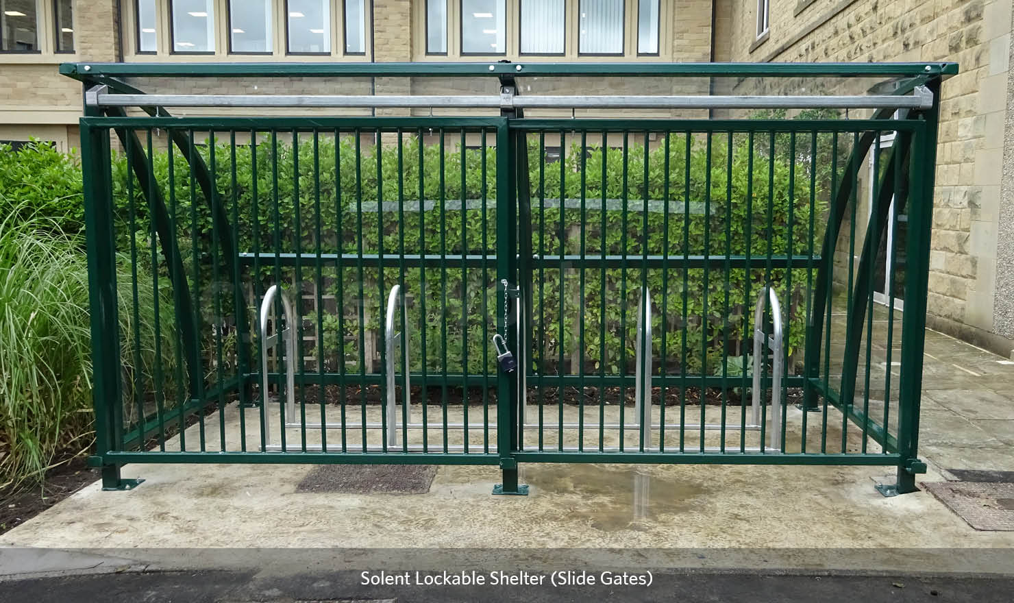 Cycle Shelter with Racks