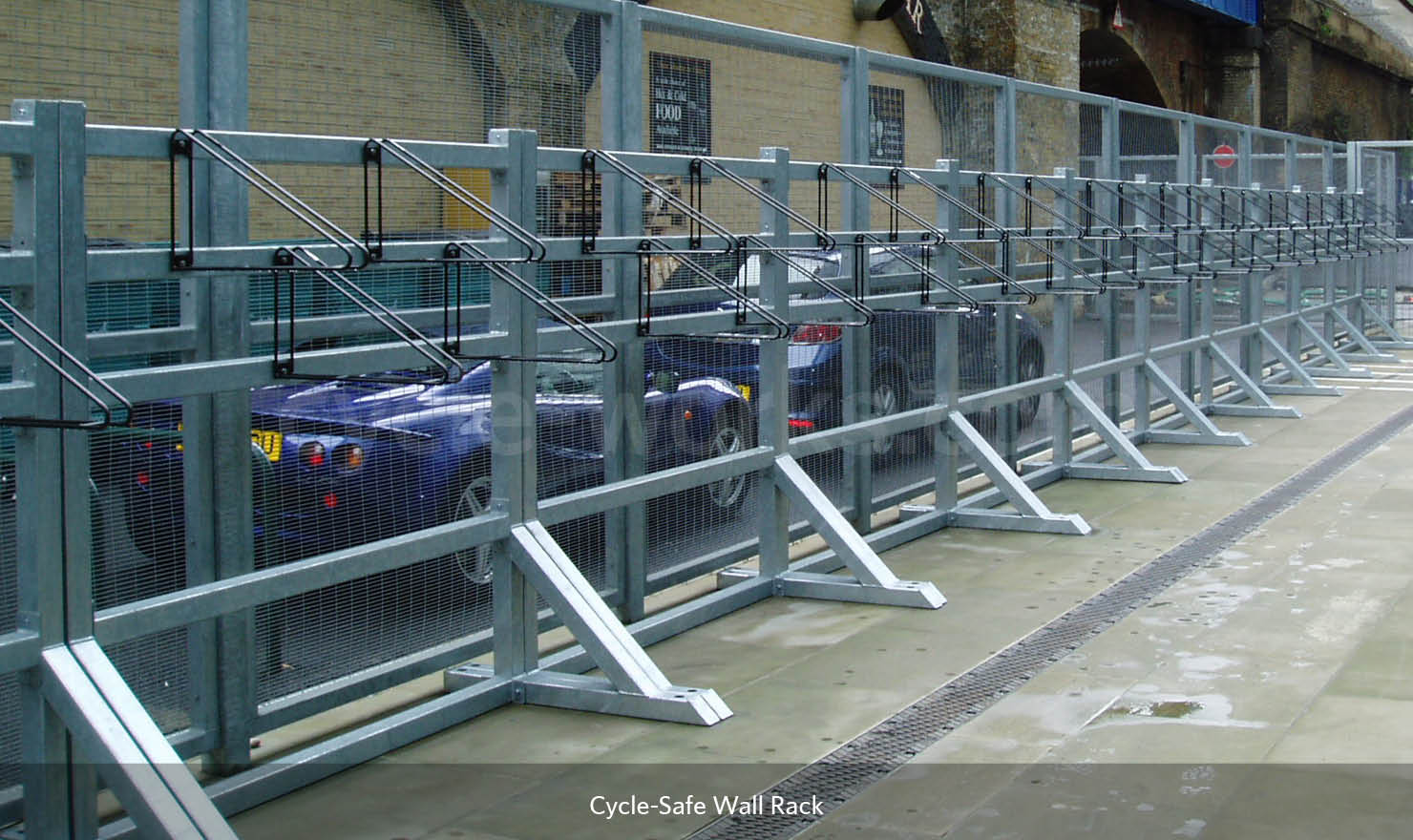 Cycle-Safe Wall Rack on Frame Works