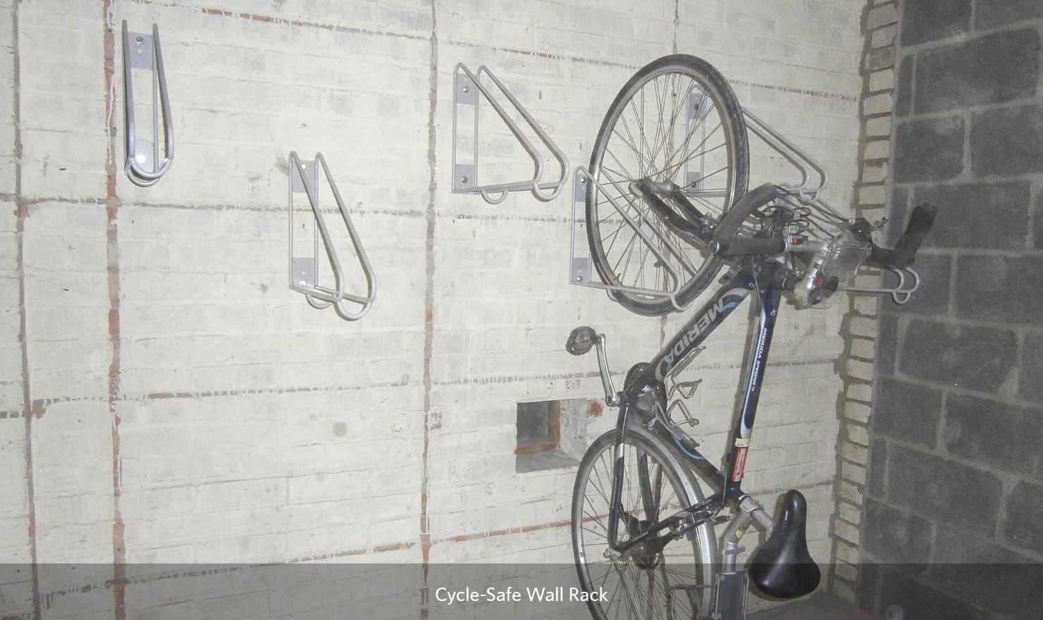 Cycle-Safe Triangular Bike Wall Rack