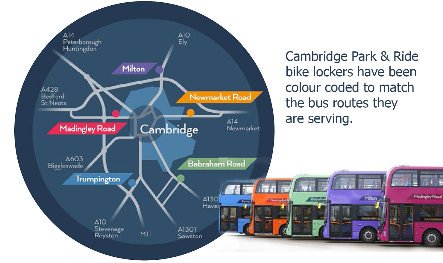 Cambridge Park & Ride Map