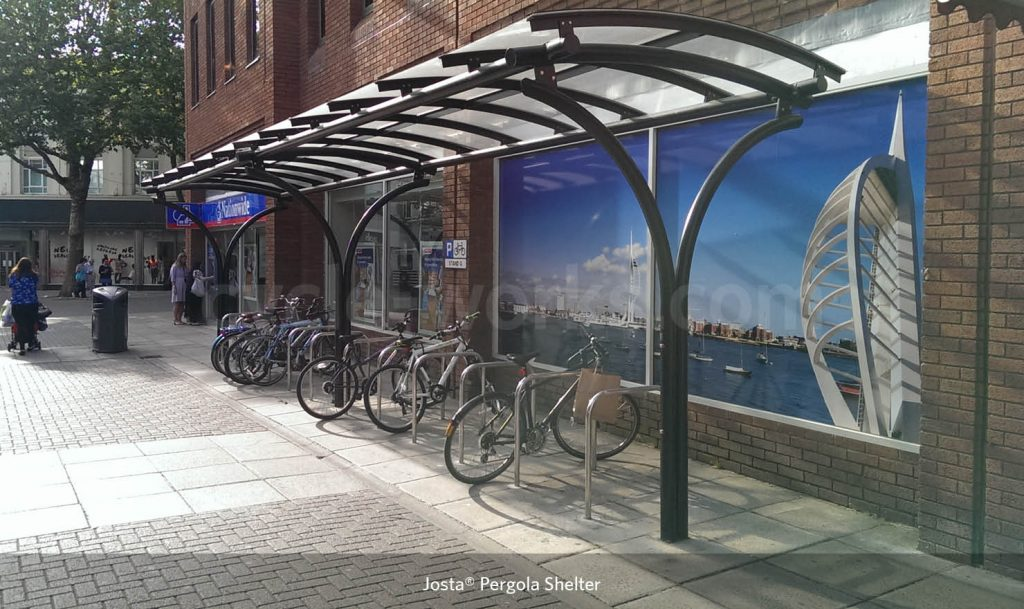 Josta Pergola Bike Shelter Commercial Road Portsmouth