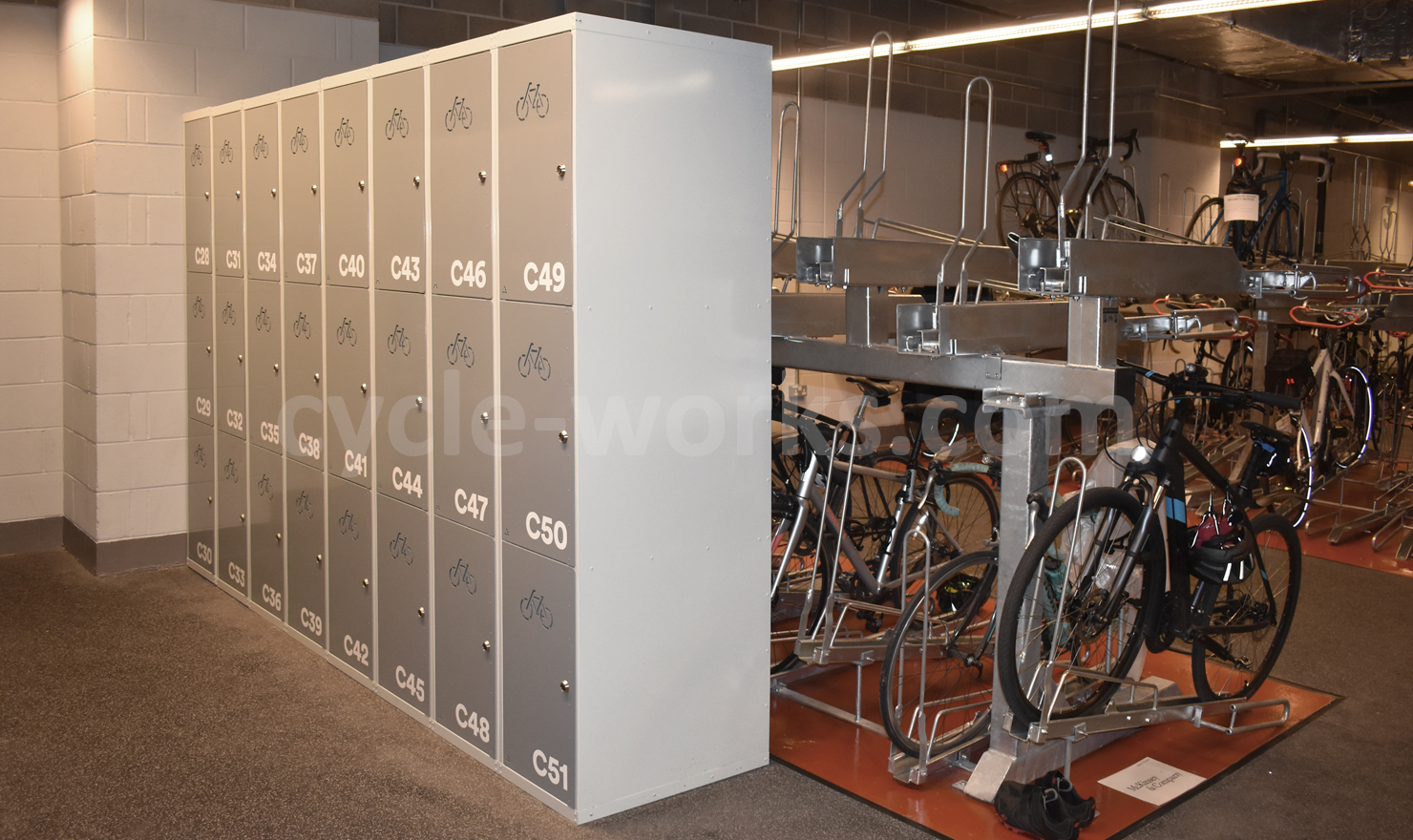 The Post Building - Cycle Lockers
