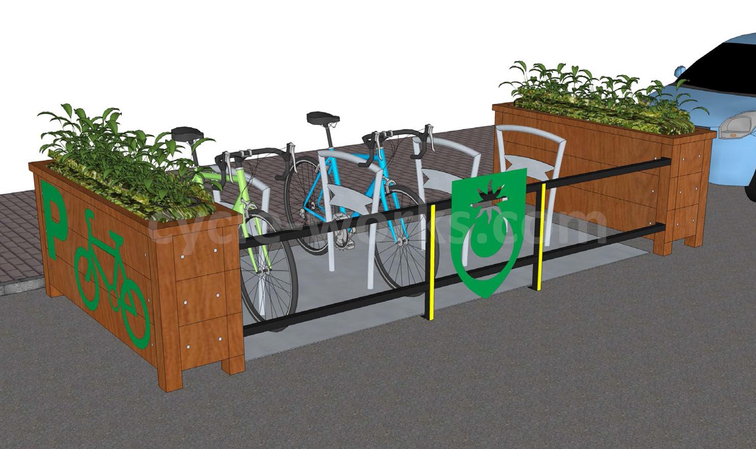 Bike Corrals and Bike Stands