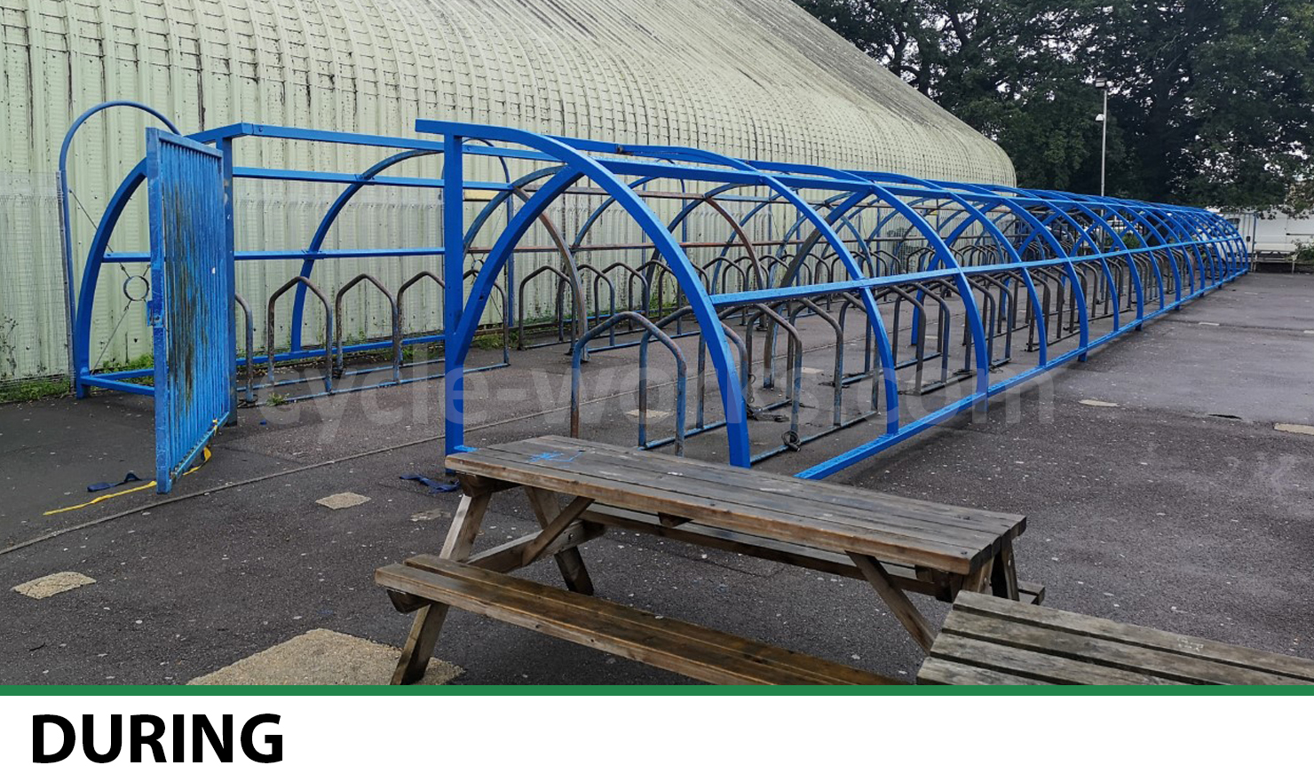 Bike Shelter Refurbishment During